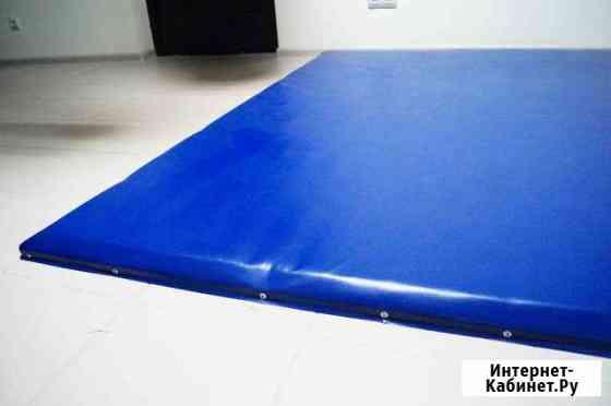 Борцовский ковер синий 3х3 тройка Элиста