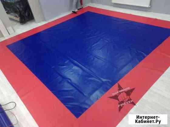 Борцовский ковер 4см толщиной красно-синий 8х8 Элиста
