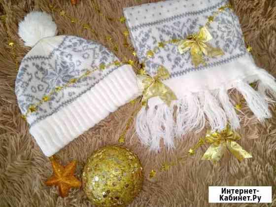 Комплект шапка, шарф Романово