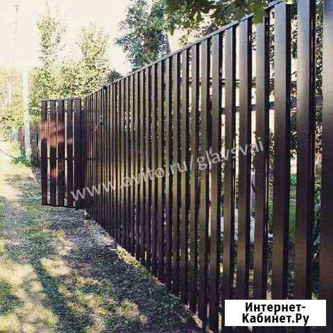 Забор. Забор из винтовых свай Кировск