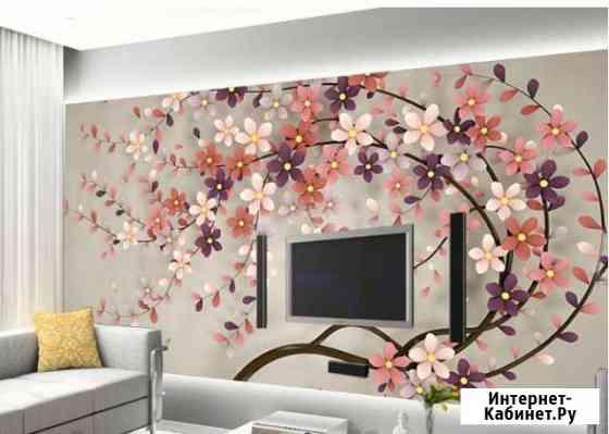 Обои фреска 3D Цветочное дерево Находка