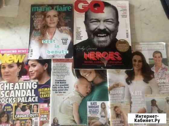 Журнал британия Marie Claire,GQ,Hello,OK, New Москва