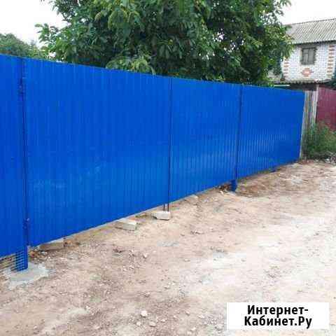 Забор ворота калитки новые с монтажем Волжский Волгоградской области