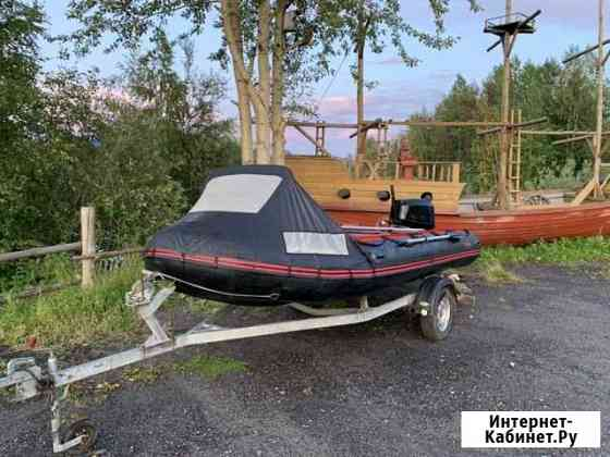 Продам лодку korsar 470 с моторов Mercury 40 4такт Кемь
