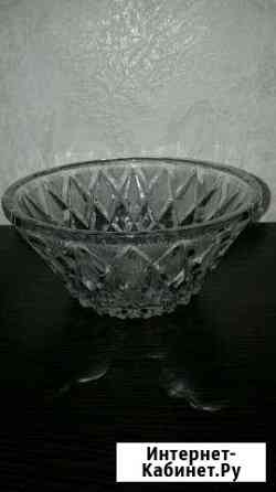 Хрустальные вазы для конфет и стаканчики с руч Магадан