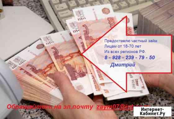 Частный займ, оформление и выдача в день обращения Краснодар