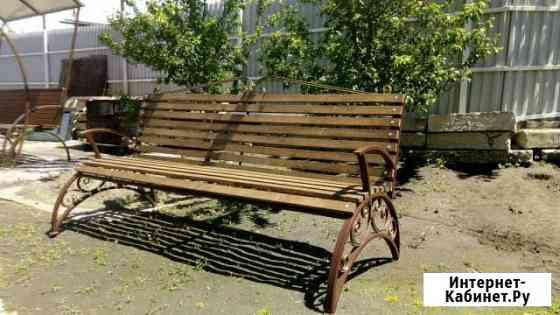 Лавочка (скамейка) с холодной ковкой Черкесск