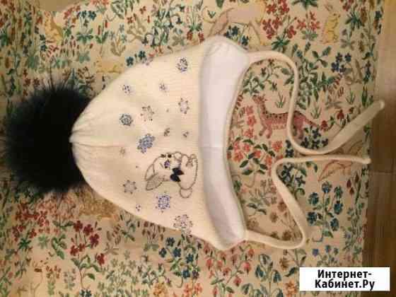Зимняя шапка для девочки 2-4 года Москва
