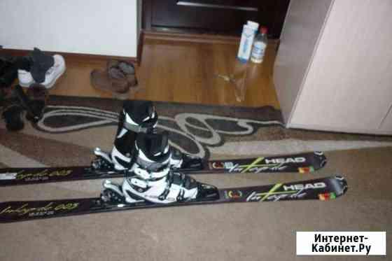 Продам комплект горных лыж Абакан