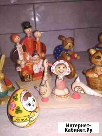 Сувениры, игрушки деревянные, СССР Саранск