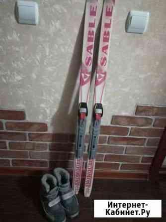 Детские лыжи с батинками Арзамас