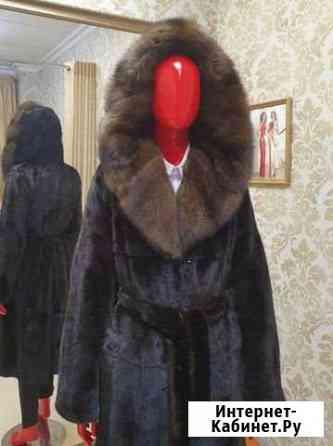 Норковая шуба с баргузинским соболем Якутск