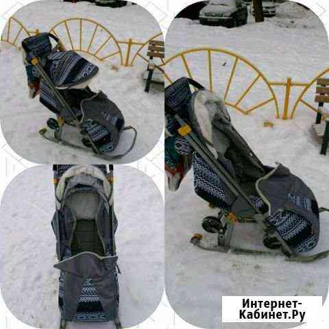 Санки-коляска. 3 положения спинки,ремни безопаснос Электросталь