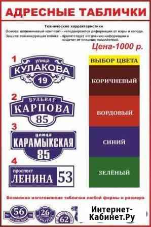 Адресные таблички по гост Ставрополь