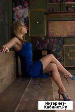 Платье синее новое с v-образным вырезом Санкт-Петербург