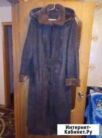 Дубленка женская длинная, размер 60-62, б/у Братск