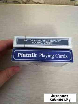 Карты для покера настоящий пластик Сургут