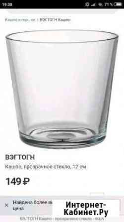 Кашпо прозрачное стекло Икея Нижний Новгород