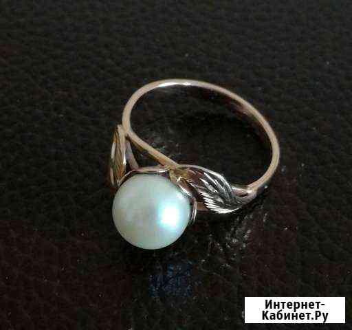 Золотое кольцо с жемчугом, СССР Новороссийск