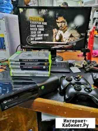 Xbox 360 2 геймпада с дисками Уфа