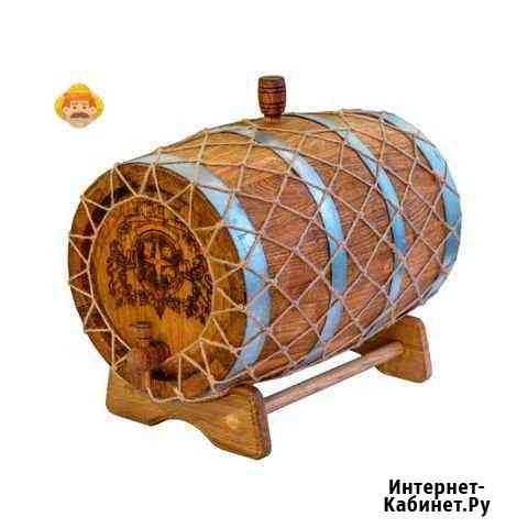 Дубовый бочонок (в переплете), 10 л Омск