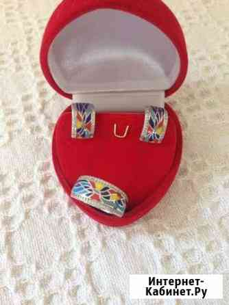 Набор серьги и кольцо Смоленск