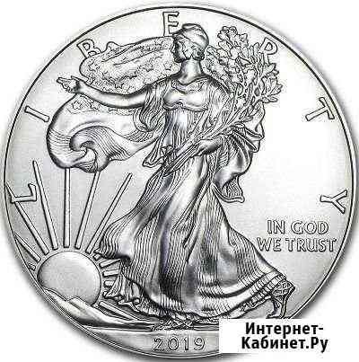 США 1 доллар 2019 Шагающая Свобода серебро Липецк