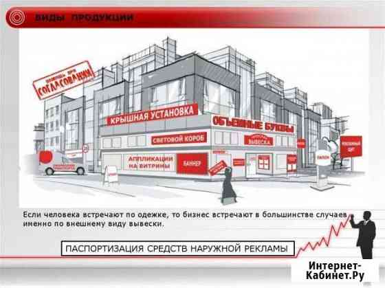 Изготовление и паспортизация вывесок Казань