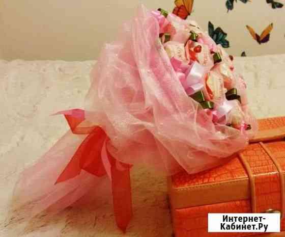 Букеты и подарки из конфет на заказ Иркутск