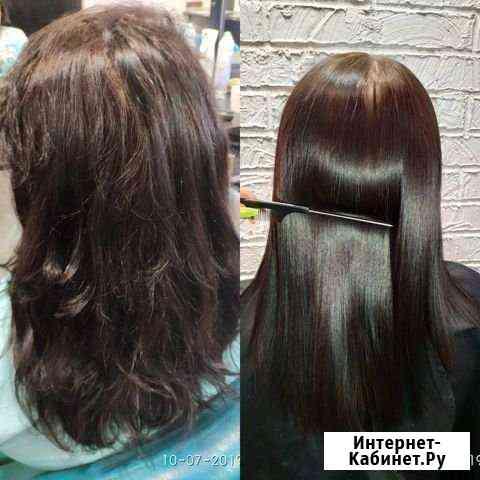 Ботокс волос, кератиновое выпрямление волос Калининград