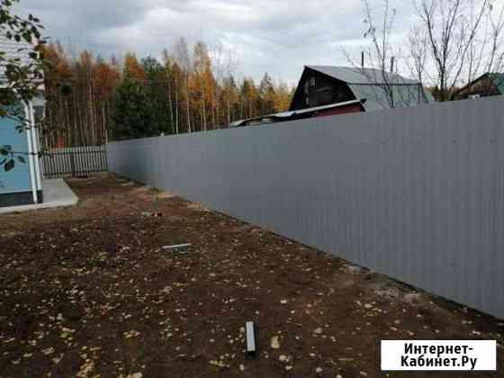 Установка заборов из профнастила Нижний Новгород