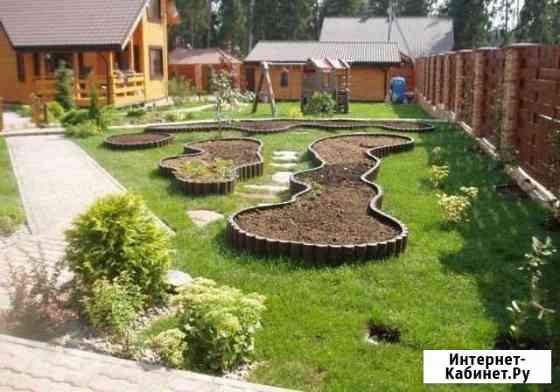Ландшафтный дизайн, благоустройство, газон Приволжский