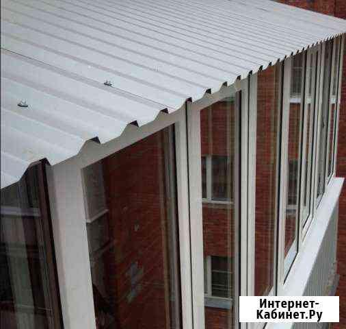 Крыша на балкон под ключ. Козырек на балкон Зеленоград