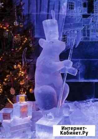 Снежные, ледяные скульптуры, фигурки,горки и много Пермь