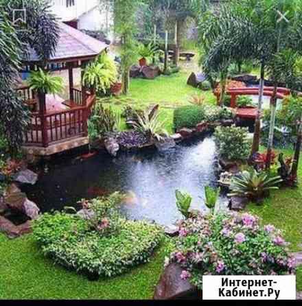 Ландшафтный дизайн, озеленение Краснодар