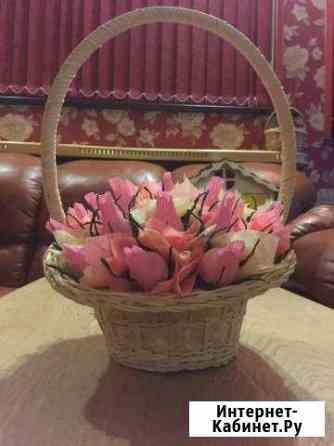 Изготовление и готовые корзины и букеты из конфет Серпухов