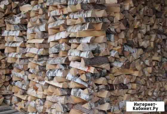 Дрова березовые колотые сухие с доставкой до 3 куб Кудряшовский