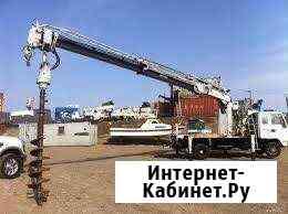 Услуги Ямобура, аренда буровой машины Полтавская