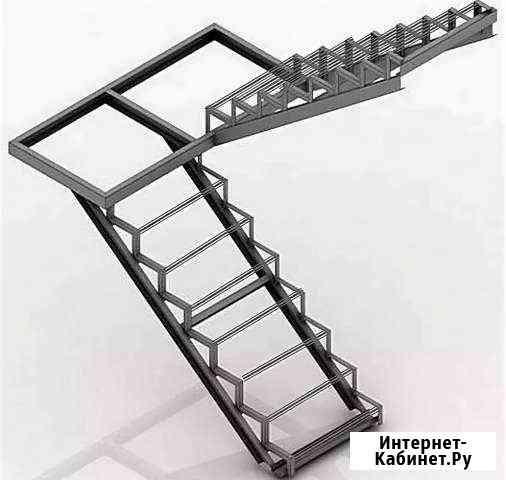Лестницы с перилами под ключ Саратов