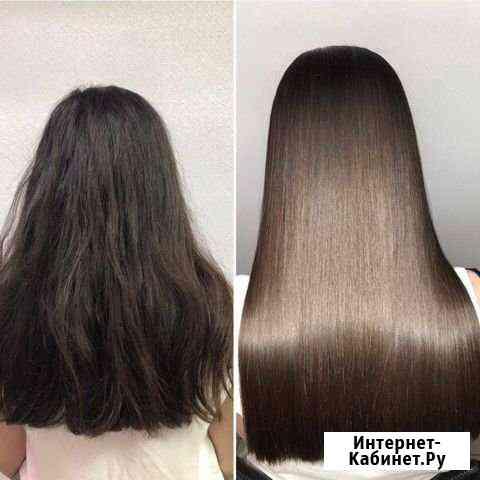 Кератиновое выпрямление, ботокс волос Омск