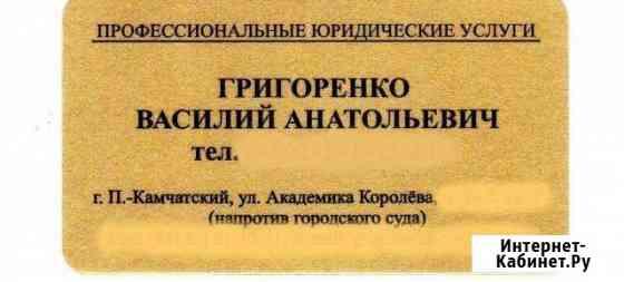 Профессиональные юридические услуги Петропавловск-Камчатский
