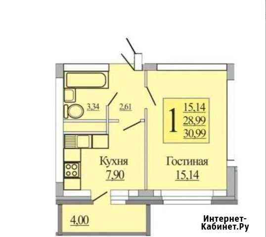 1-комнатная квартира, 33 м², 5/10 эт. Отрадное