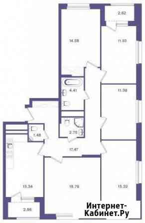 5-комнатная квартира, 114.1 м², 5/18 эт. Москва