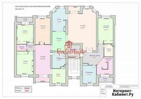 6-комнатная квартира, 264.2 м², 3/3 эт. Сергиев Посад