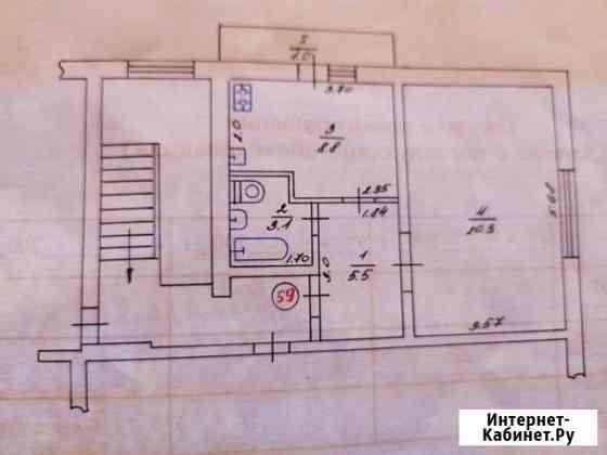 1-комнатная квартира, 37.7 м², 5/5 эт. Приморский