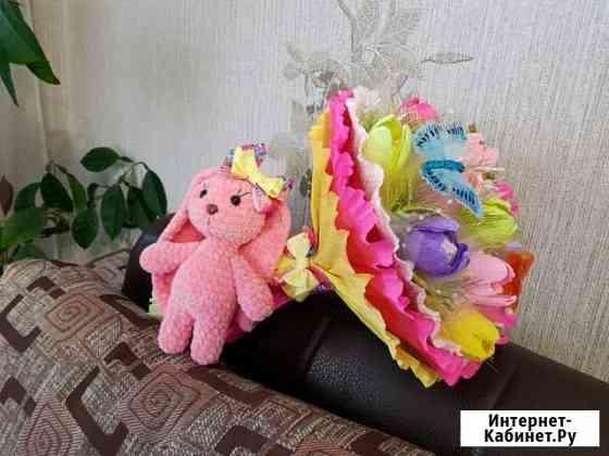Букеты из игрушек и конфет Благовещенск