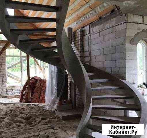 Строительство монолитной лестницы с отделкой Самара