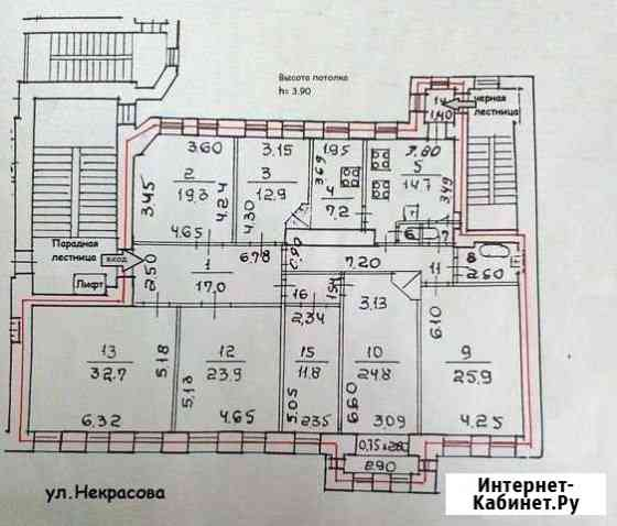 7-комнатная квартира, 210 м², 5/5 эт. Санкт-Петербург