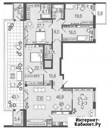5-комнатная квартира, 212.2 м², 9/13 эт. Санкт-Петербург