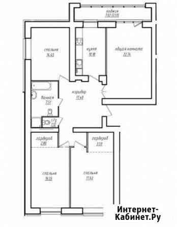 4-комнатная квартира, 117.5 м², 7/8 эт. Барнаул